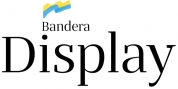 Bandera Display font download