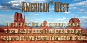American West font download