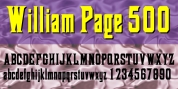 William Page 500 font download