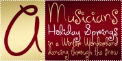 Holiday Springs BTN font download