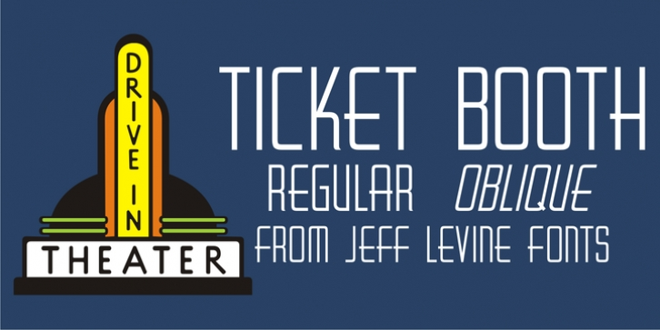Ticket Booth JNL font preview
