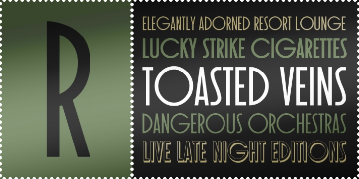 Toasted Vein BTN font preview