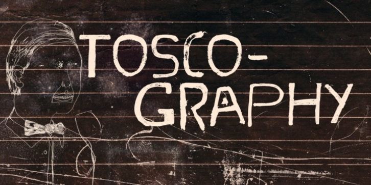Toscography font preview