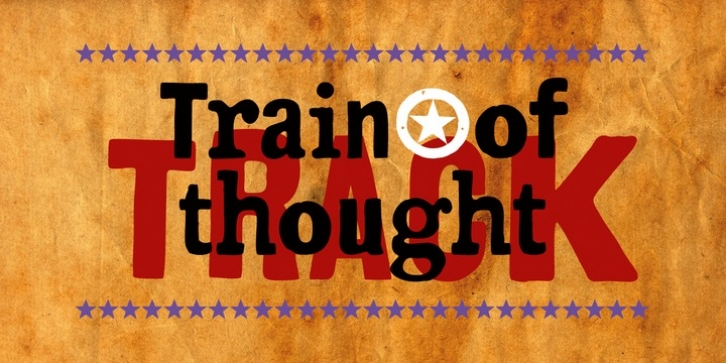Train Of Thought font preview