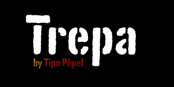 Trepa font preview