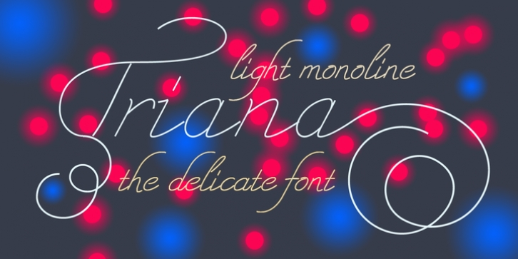 Triana font preview