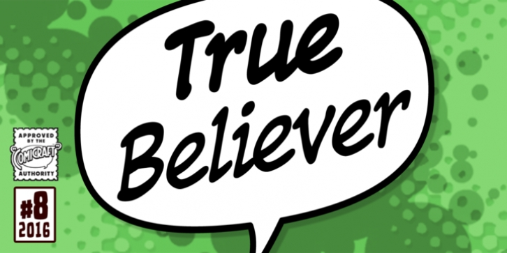 True Believer font preview