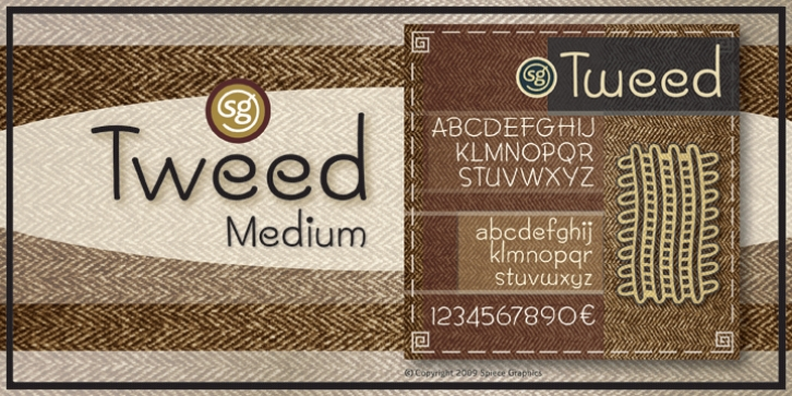 Tweed SG font preview