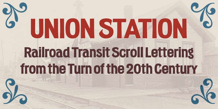 Union Station font preview