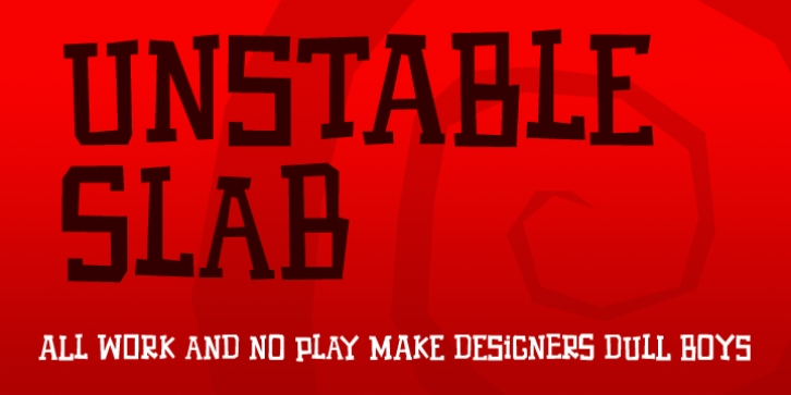 Unstable Slab font preview