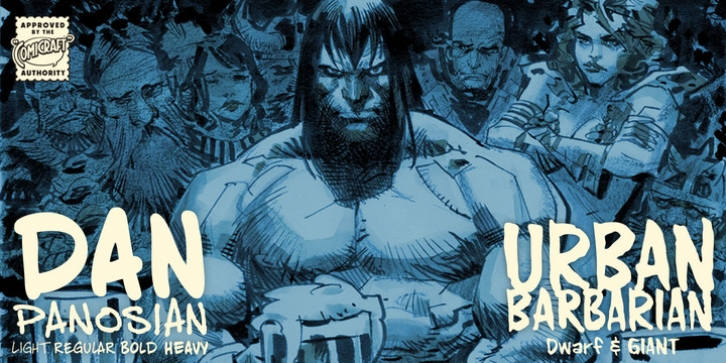 Urban Barbarian font preview