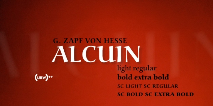URW Alcuin font preview