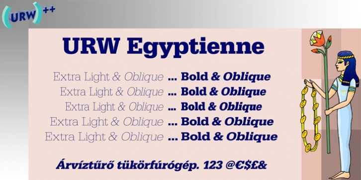 URW Egyptienne font preview