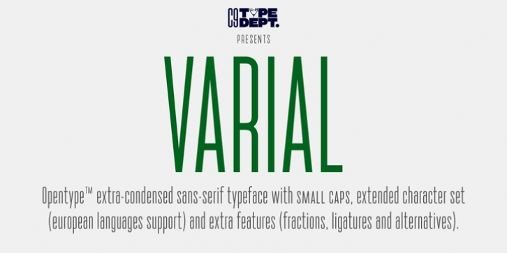 Varial font preview