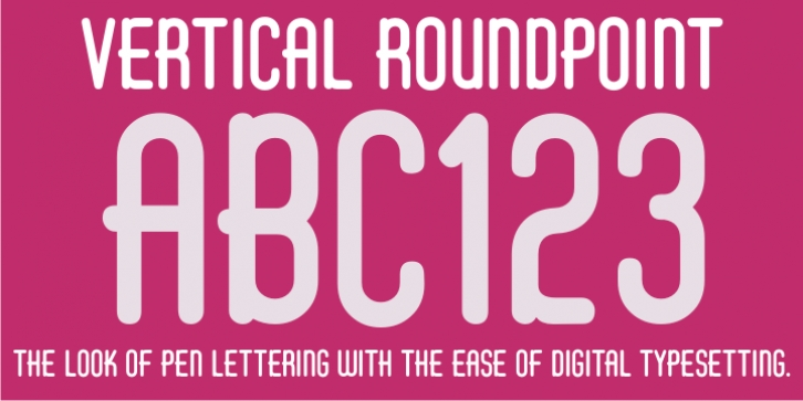 Vertical Roundpoint JNL font preview