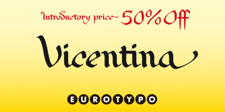 Vicentina font preview