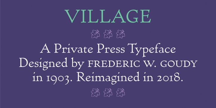 Village font preview