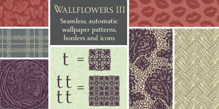 Wallflowers III font preview