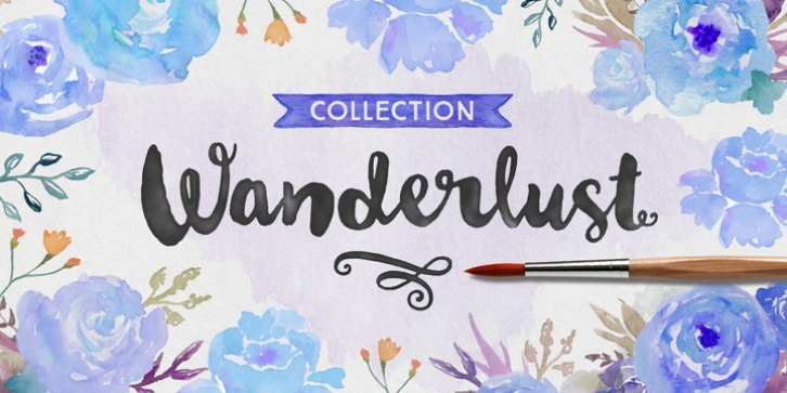 Wanderlust Collection font preview