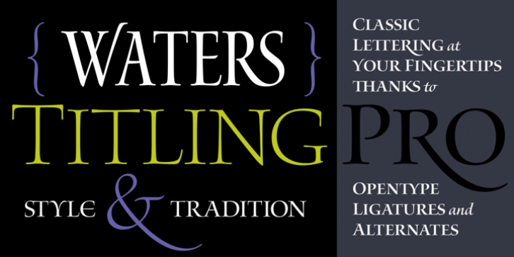 Waters Titling font preview