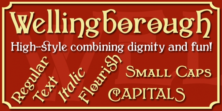 Wellingborough font preview
