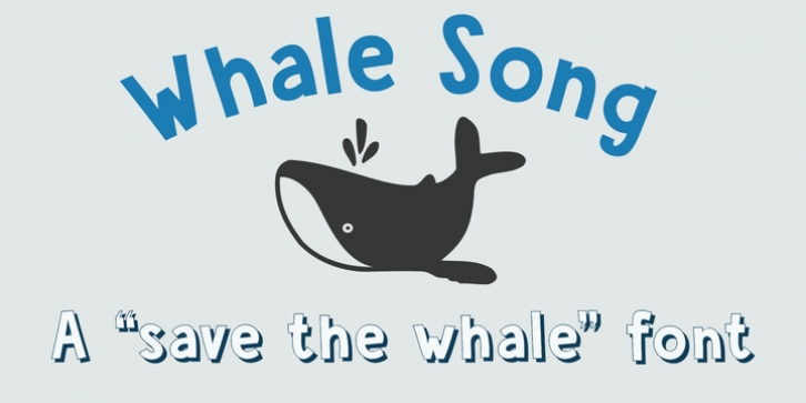Whale Song font preview