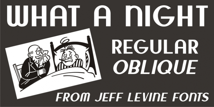 What A Night JNL font preview