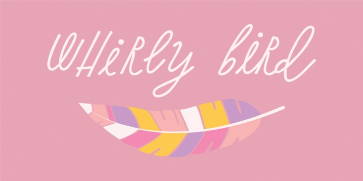 Whirly Birds font preview