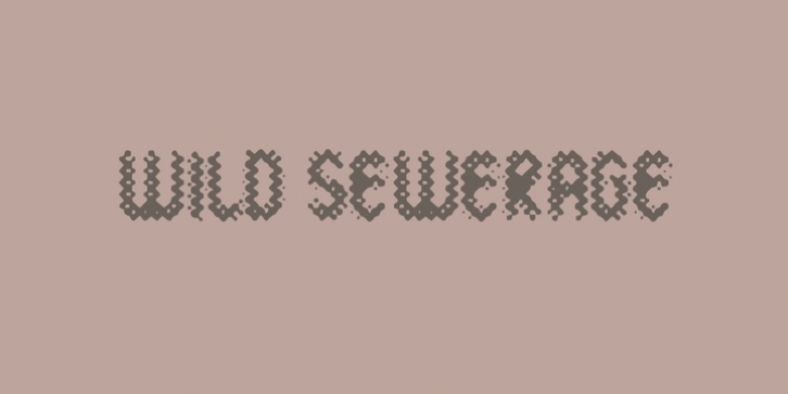 Wild Sewerage font preview