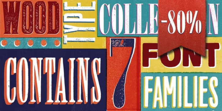 Wood Type Collection font preview