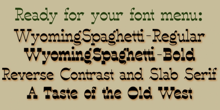 WyomingSpaghetti font preview