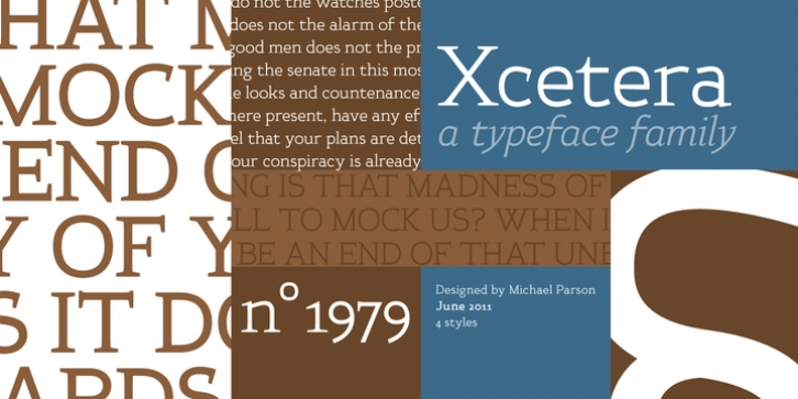 Xcetera font preview