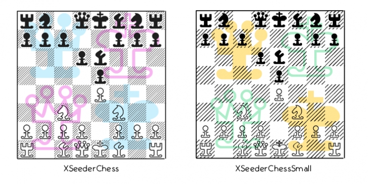 XSeeder Chess font preview