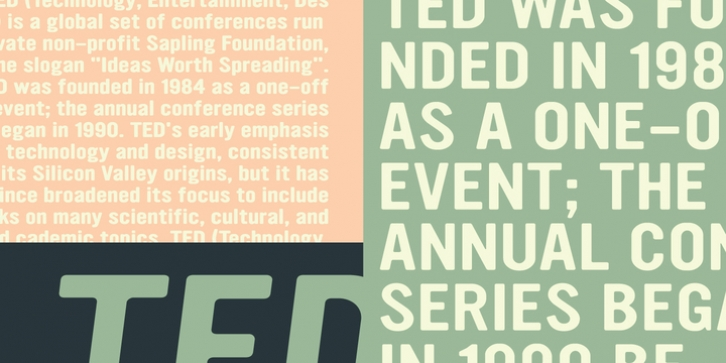 YWFT Ultramagnetic Expanded font preview