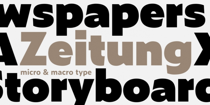 Zeitung Pro font preview