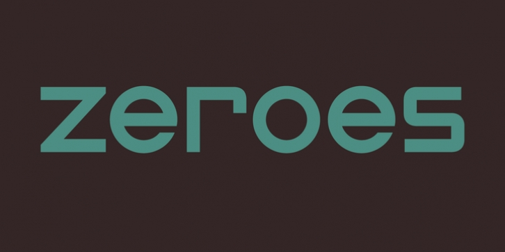 Zeroes font preview