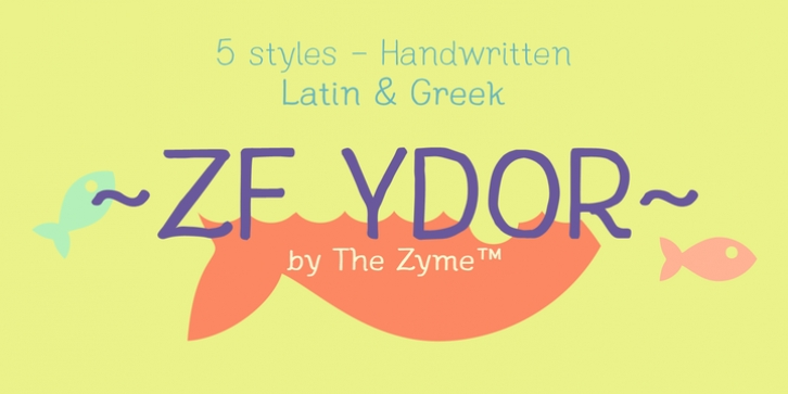 ZF Ydor font preview